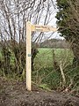 Signpost on Trail by Boyne's Lane - geograph.org.uk - 301247.jpg