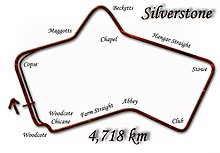 The Silverstone circuit in 1978.