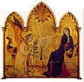 Simone Martini - The Annunciation and the Two Saints (detail) - WGA21439.jpg