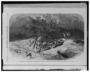 USS Oneida (1861) - Image: Sinking of USS Oneida