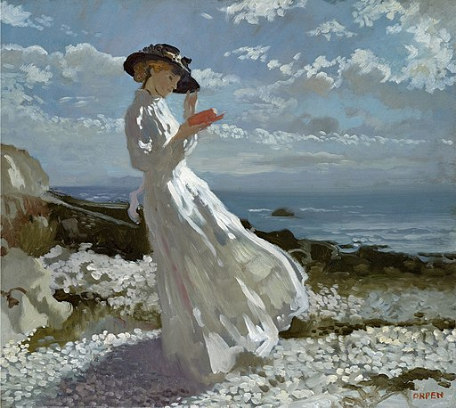 Sir William Orpen - Grace reading at Howth Bay