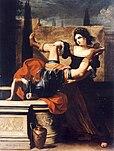 Sirani, Elisabetta - Timoclea uccide il capitano di Alessandro Magno - 1659.jpg