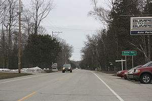 Sister Bay, Wisconsin - Image: Sister Bay Wisconsin Sign WIS42South