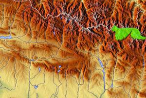Localización del parque en los Pirineos de Huesca.