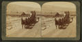 Six-horse tally-ho leaving mountain walled Gardiner for trip through Yellowstone Park, U.S.A, by Underwood & Underwood 4.png