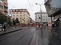 Smíchov, Plzeňská, zastávka Anděl, pohled k Lidické.jpg