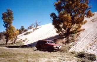 "Wyperfeld National Park - ""Snowdrift"" sandhill on otherwise flat land in Wyperfeld National Park, 2001."