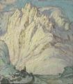 Snowy Mountains. Study from Lofoten (Anna Boberg) - Nationalmuseum - 20503.tif