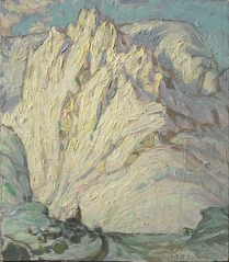 Snowy Mountains. Study from Lofoten