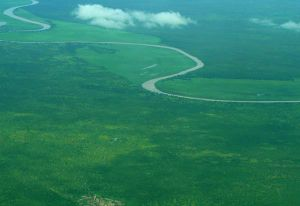 Sobat River - Sobat River from air