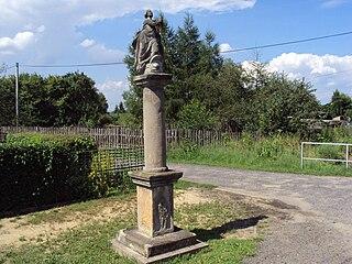 Sloup se sochou Panny Marie Immaculaty