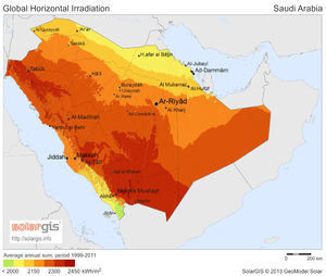 Solar power in Saudi Arabia - Solar potential