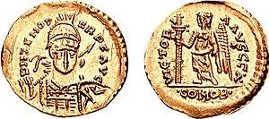 Odoacer - Odoacer solidus struck in the name of Emperor Zeno, testifying to the formal submission of Odoacer to Zeno.