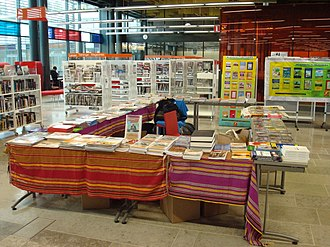 Somali community in Finland - Books on display at the 2012 Somali Culture Fair in Helsinki.