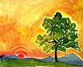 Sonnenaufgang, Margret Hofheinz-Döring, Öl, 1991 (WV-Nr.8463).jpg