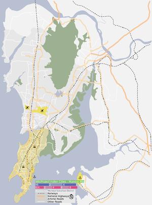 South Mumbai - Image: South Mumbai as at 2013