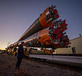 Soyuz TMA-06M rollout by train 1.jpg