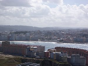 View of A Coruña from the Tower of Hercules