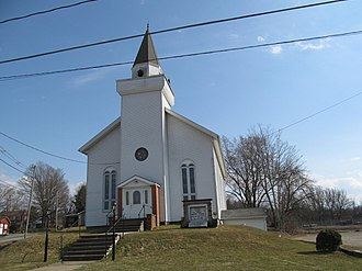 Spartansburg, Pennsylvania - Methodist church on Main Street