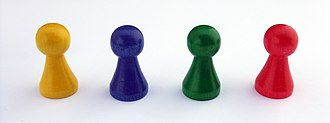 "Halma - Simple wooden pawn-style playing pieces, often called ""Halma pawns"""