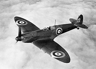 Imperial War Museum Duxford - K9795, a Spitfire Mk I operated from Duxford by No. 19 Squadron in 1938.