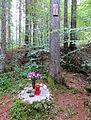 Spodnje Gorje Slovenia - Meadow Shaft 1 Mass Grave memorial.JPG