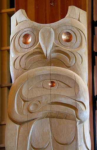 Lil'wat First Nation - Squamish Lilwat Carving at the Squamish Lil'wat Cultural Centre