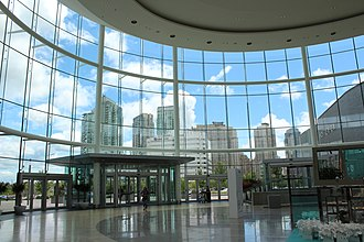 Square One Shopping Centre - Square One Shopping Centre, Mississauga.View of entrance lobby from inside-out.
