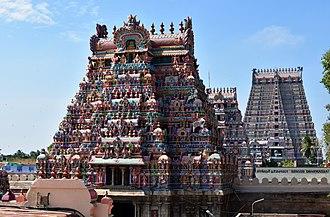 Ranganathaswamy Temple, Srirangam - Srirangam Temple gopurams