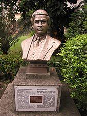 srinivasa ramanujan bust of ramanujan in the garden of birla industrial technological museum