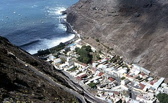Jamestown, Saint Helena - Jamestown from above in 1985