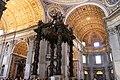 St. Peter's Basilica, St. Peter's Baldachin (Bronze Canopy over the High Altar), 1623-1634 (48466577891).jpg
