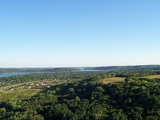 Washington County, Minnesota - A view of the forested St. Croix River valley, looking south towards Afton