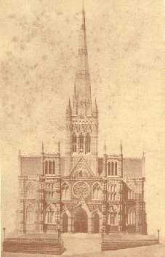 Francis Petre - St Joseph's Cathedral, Dunedin, as Petre intended it. This project was never completed.