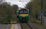 A London Midland Abbey Line service departs St Albans Abbey for Watford Junction in 2014