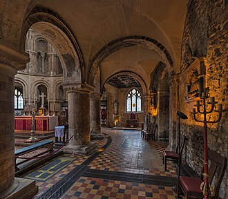 St Bartholomew-the-Great - South aisle, looking east toward the sanctuary and Lady chapel