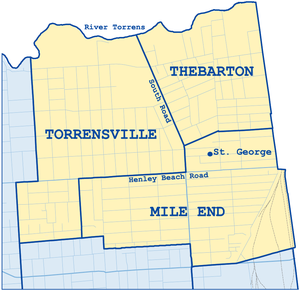 Thebarton, South Australia - One of the three suburbs in West Torrens with a high population of Greek-Australians
