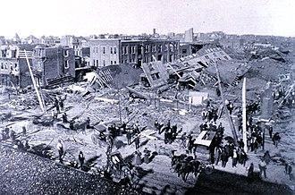 1896 St. Louis–East St. Louis tornado - Damage at Jefferson and Allen Avenues