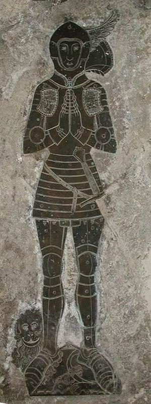 Man-at-arms - English man-at-arms, funerary brass c. 1431