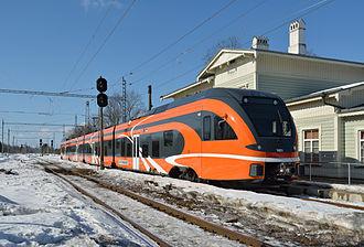 Stadler FLIRT - Estonian Stadler FLIRT EMU 1401 in Keila