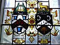Stained glass - Worshipful Company of Ironmongers and Worshipful Company of Clothworkers crests.jpg