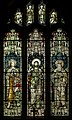 Stained glass window, St George's church, Brede (16228572592).jpg
