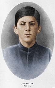 Stalin a sedici anni nel 1894