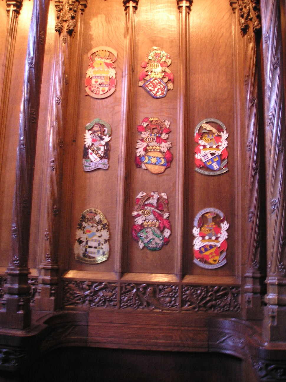 Stall plates of Knights of the Thistle