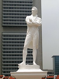Statue of Thomas Stamford Raffles by Thomas Wo...