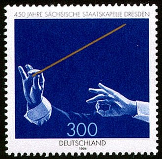 Baton (conducting) - Stamp from Deutsche Post AG from 1998