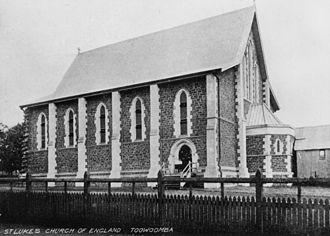 John H. Buckeridge - Image: State Lib Qld 1 158385 St. Lukes Church of England, Toowoomba, ca. 1902
