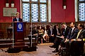 State Department Chief of Staff Finer Looks Above in Embarrassment as Secretary Kerry Lauds Him for Being a Rhodes Scholar Before He Delivered a Speech at the Oxford Union (26955498065).jpg
