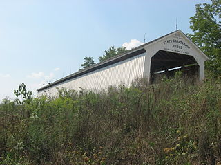 Sanitorium Covered Bridge place in Indiana listed on National Register of Historic Places