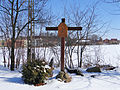 Stations of the Cross in the Church of Saint Dorothy in Cieksyn (outside) - 04.jpg
